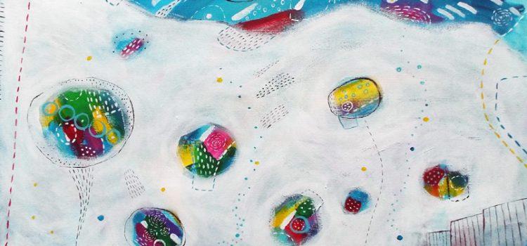 Jezioro marzeń II, akryl/ papier, wym