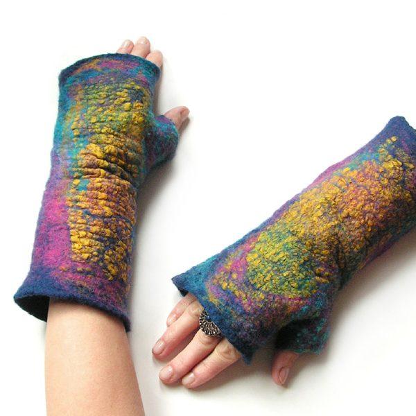 Filcowe mitenki/ rękawki