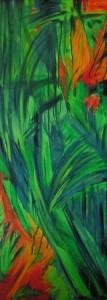 Mandragora  - olej, płótno, wym. 130x50 cm