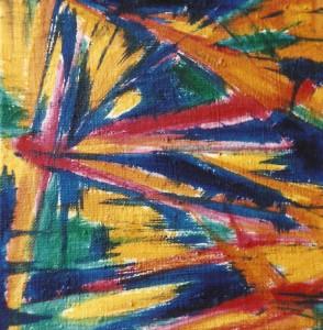 Słoneczny trakt  - olej, płótno, wym. 20x20 cm