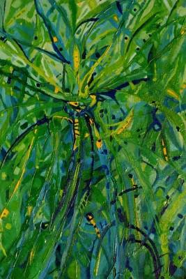 Zielone przestrzenie  - olej, płótno, wym. 94,5x64,5 cm