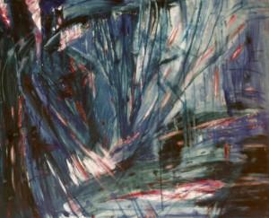 Deszcz życzeń  - olej, płótno, wym. 75x92 cm