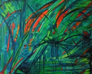 Jezioro marzeń - olej, płótno, wym. 110x135 cm