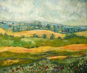 Pejzaż III - akryl, płótno, wym. 50x60 cm