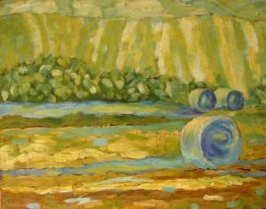 Pejzaż IV - akryl, papier, wym 35x45cm