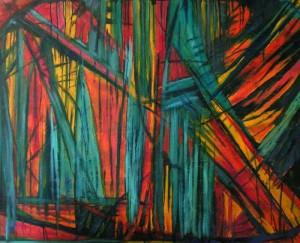 Przenikanie - olej, płótno, wym. 110x135cm