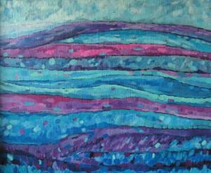 Pejzaż 11 - akryl, płótno, wym. 75x92 cm