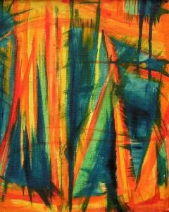 Marzenie  - olej, płótno, wym. 35,5x29 cm