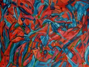 Pańczatantra  - olej, płótno, wym. 60x80 cm
