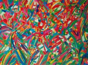 Atak piękna  - olej, płótno, wym. 100x130 cm