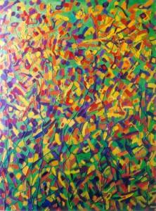 Eksplozja wrażeń - olej, płótno, wym. 130x100 cm