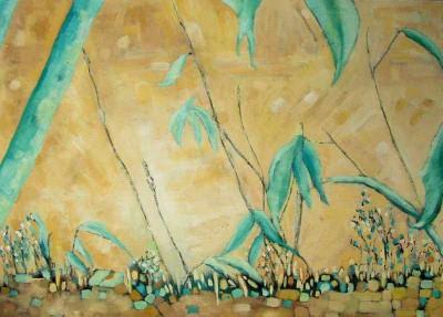 Łąka  - akryl, płótno, wym. 50x70 cm