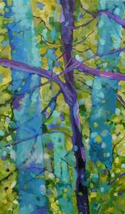 Majowy las - akryl, płótno, wym.