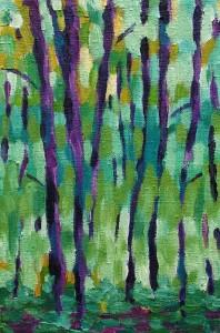 Małe drzewa - akryl, płótno, wym.