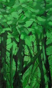 W-stronę cienia - akryl, płótno, wym. 50x30 cm